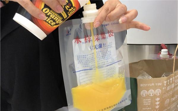 西安商场里自助鲜榨橙汁新鲜吗?10杯...